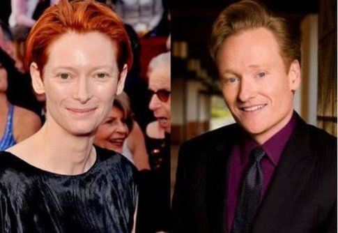 Tilda Swinton e Conan O'Brien