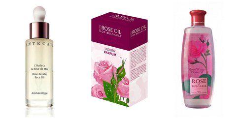 Vari tipi di olio di rosa bulgara Damascena