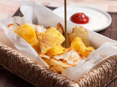 Sedano rapa croccante con impanatura al mais. Ricetta e foto by LaKritchen