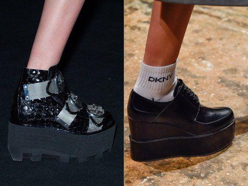 Le scarpe platform di Alexander Wang e DKNY per l'autunno-inverno 2015-2016
