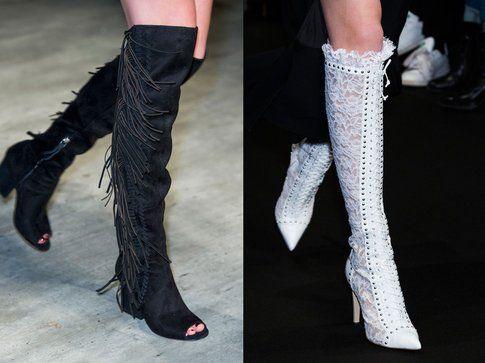 Gli stivali sopra il ginocchio di Rebecca Minkoff e Altuzarra per l'autunno-inverno 2015-2016
