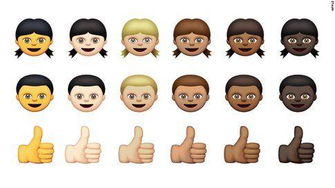 Sei diverse tonalità di pelle per le nuove emoji