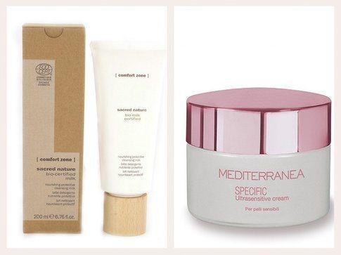 Durante il giorno serve una crema lenitiva, ipoallergenica e senza profumo: ecco due prodotti giusti!