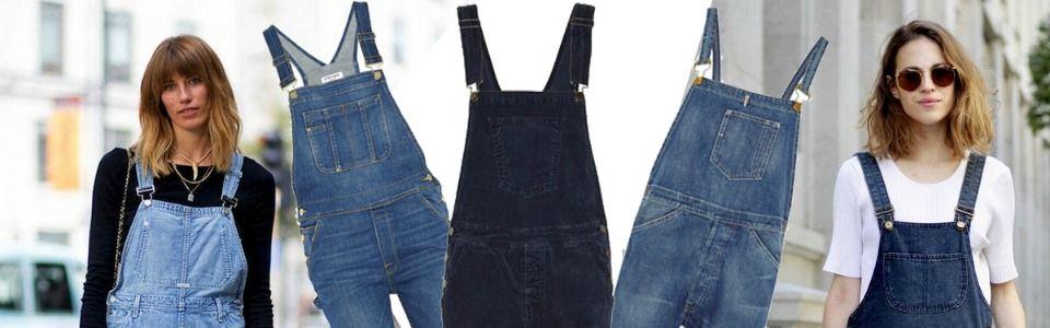 Salopette di jeans per la primavera-estate 2015