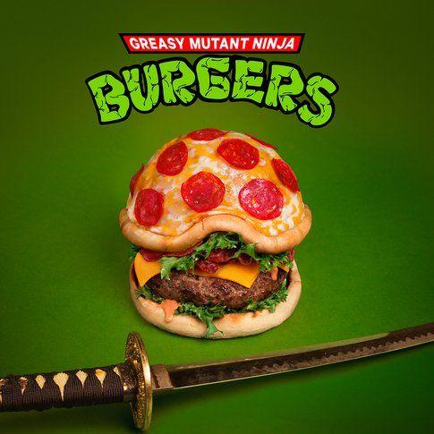 Hamburger Pizza Mutant Ninja