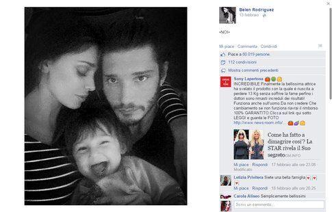 La famiglia al completo su Facebook