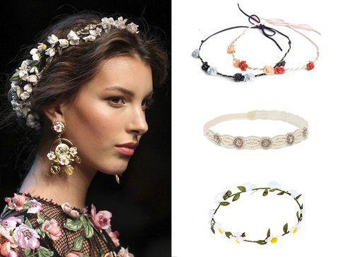 Fascette con i fiori di H&m, Asos e Accessorize