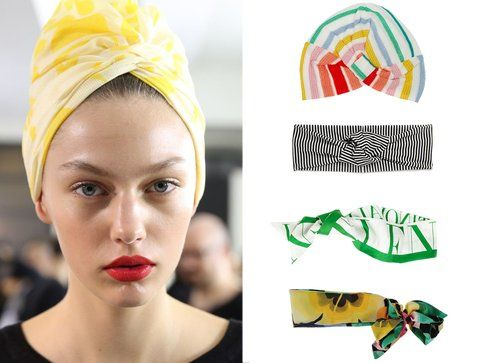 I turbanti di Missoni e Asos e i foulard di Valentino e Moschino