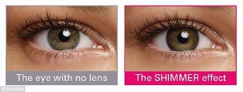 Le lenti possono essere utilizzate da chi ha occhi scuri