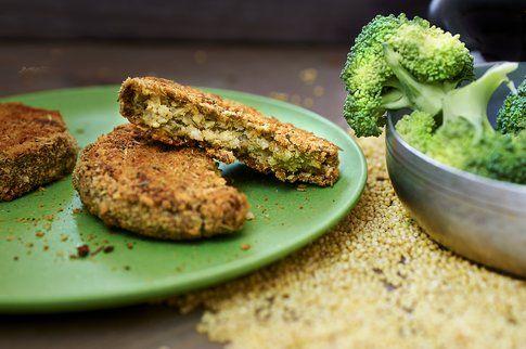 burger di miglio e broccoli