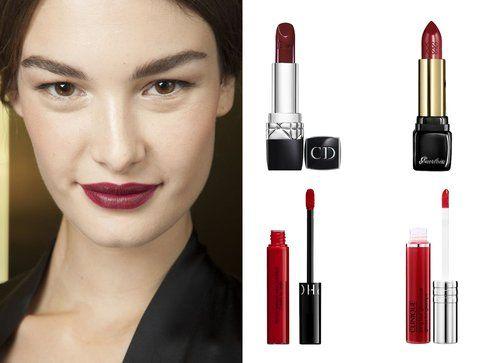 Rossetti e gloss per labbra rosso scuro