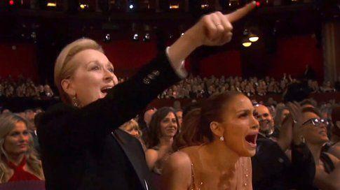 Meryl Streep e J Lo agli Oscar 2015 - foto www.thestar.com