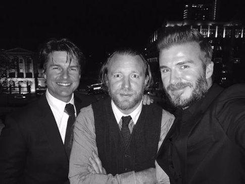 David Beckham, Tom Cruise e Guy Ritchie - Fonte: Facebook di David Beckham