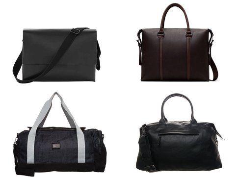 In alto: le borse di Cos e Zara -  In basso: le borse di Celio e Topman