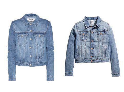 Le giacche di jeans di Acne Studio e H&m