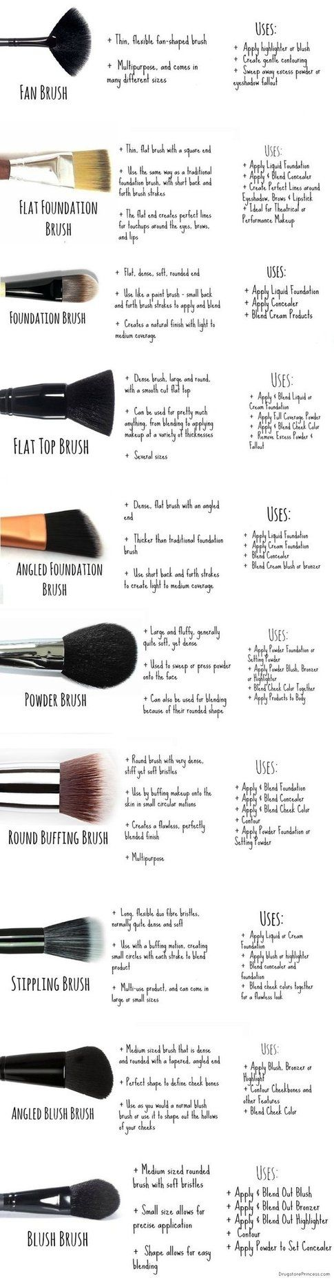 I pennelli per il make-up viso - The Drugstore Princess / Via drugstoreprincess.com