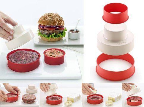 My Burger-Doppia pressa Hamburger di Lekue