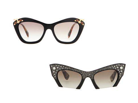 Gli occhiali da sole cat eye di Miu Miu