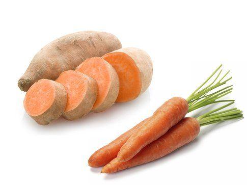 Alimenti per una pelle perfetta: patate dolci e carote