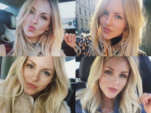 Per il giorno Shea sceglie un make-up super naturale, anche se non rinuncia a un'ottima base
