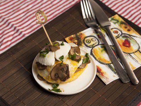Burger di mozzarella e funghi prataioli. Ricetta e foto by LaKritchen.