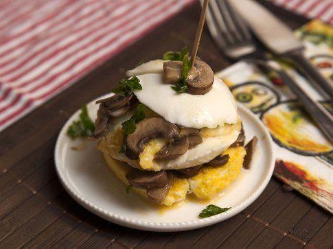 Mozzarella croccante al mais e funghi prataioli. Ricetta e foto by LaKritchen.