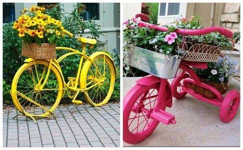 Bicicletta porta fiori - Pinterest