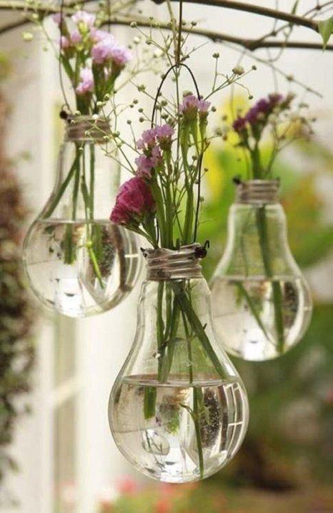 Lampadine porta fiori - Pinterest