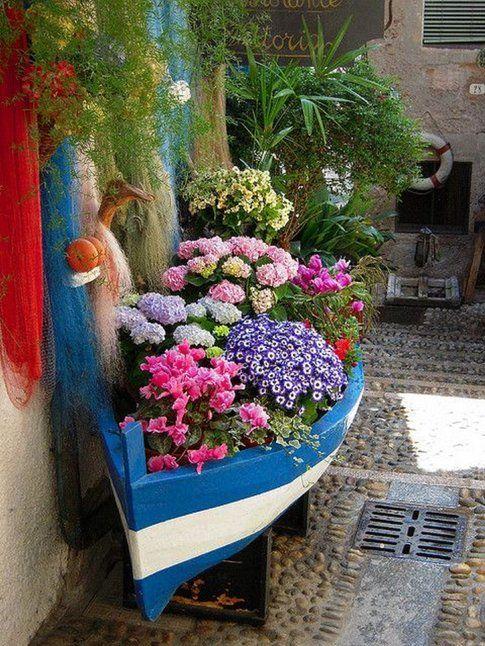Barca porta fiori - Pinterest
