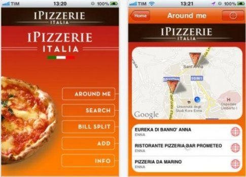 l'app i Pizzerie