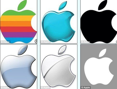 Logo Apple nel tempo - Fonte: DailyMail