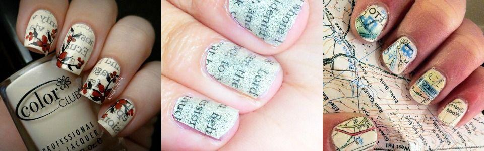 Come fare la nail art con le scritte di giornale