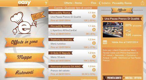 l'app Easy Dinner