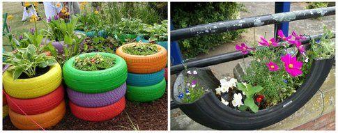 Gomma di una ruota fiorita - Pinterest