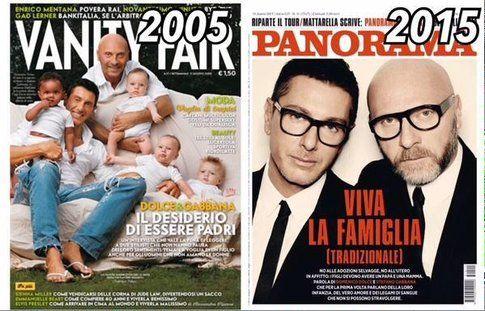 Dolce&Gabbana e la famiglia - Fonte: Twitter