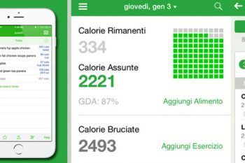 App 'Conta calorie' a portata di smartphone