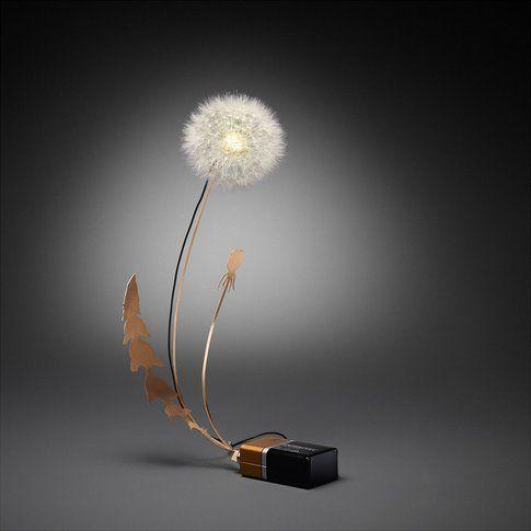 Lampada Led con fiore . Fonte: BoingBoing