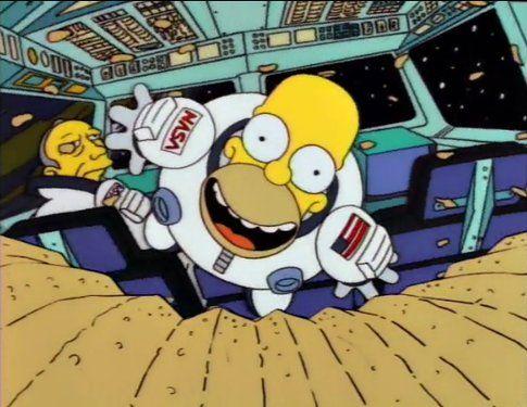 The Simpson, lo spazio - Fonte: Funnyordie