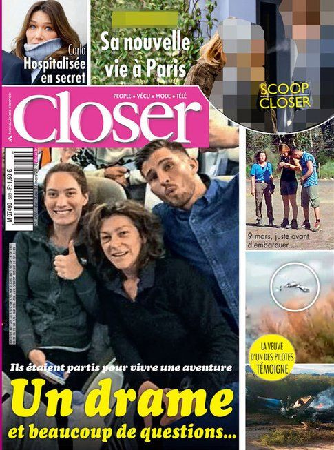 Carla Bruni sulla rivista Closer - Fonte: Twitter