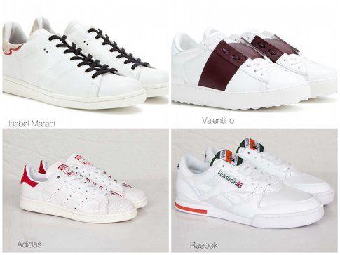 Le proposte di Isabel Marant, Valentino, Adidas (in rosso) e Rebook