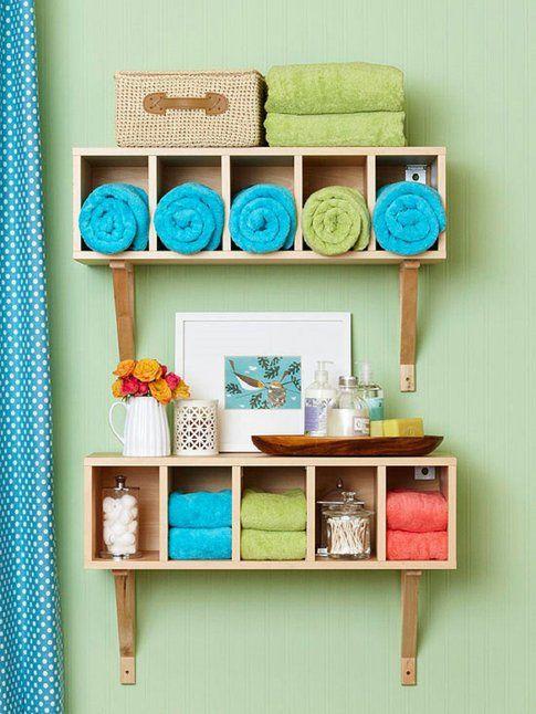 Idea armadio-mensola porta accessori bagno - Pinterest