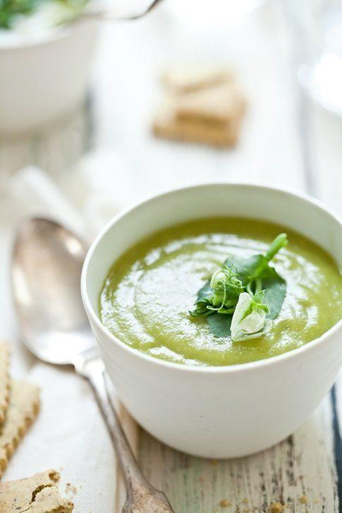 Crema agli asparagi e piselli