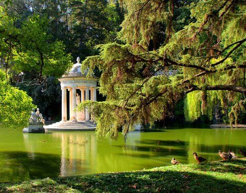 Uno scorcio del Parco di villa Durazzo Pallavicini