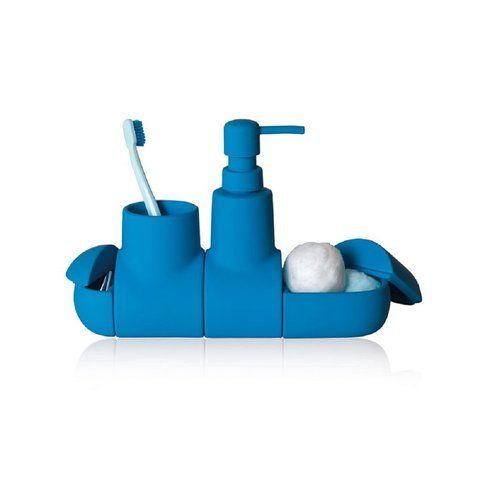"""Set da bagno """"Submarine"""" azzurro by Seletti - Mood Concept Store"""