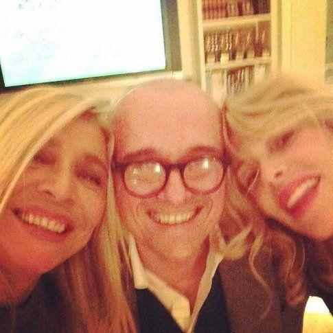 Alfonso Signorini e Mara Venier con Alessia Marcuzzi - Fonte: Facebook