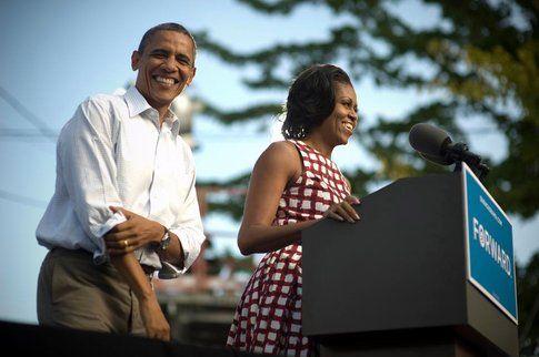 Michelle Obama e Barack, la campagna elettorale - Fonte: Facebook