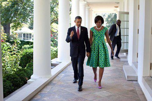 Michelle Obama e Barack alla Casa Bianca - Fonte: Facebook