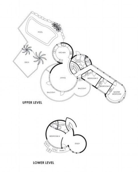 Casa a forma di pene piantina - Fonte: DailyMail