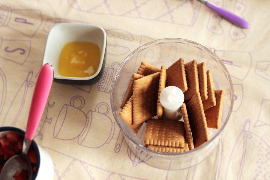 biscotti per cheesecake alle fragole