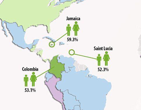 Paesi con boss donne - Fonte: DailyMail